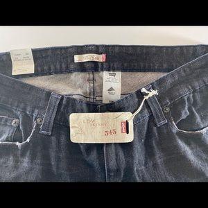 Levi's black 545 low skinny jeans, 20M, NWT